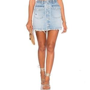 REVOLVE Tularosa Madelyn Denim Mini Skirt Miami